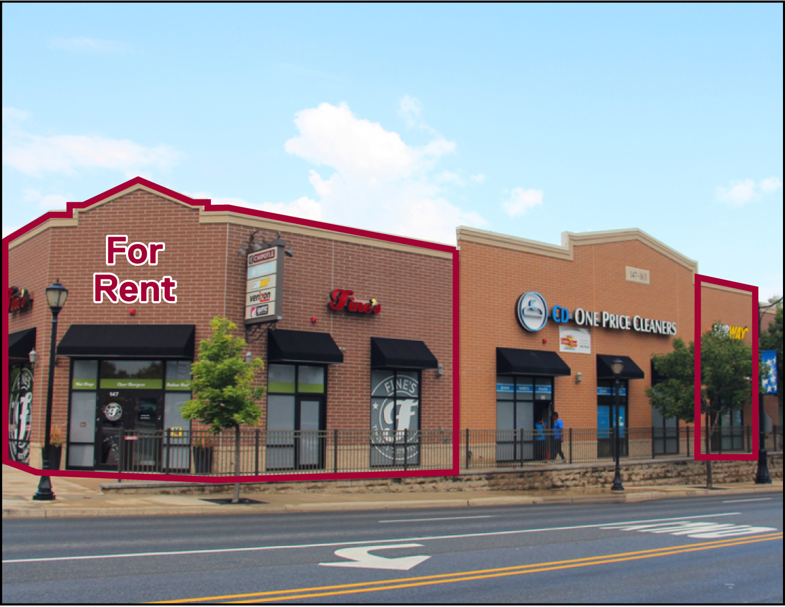 Turn Key Restaurant And 1 140 Sf Storefront For Lease
