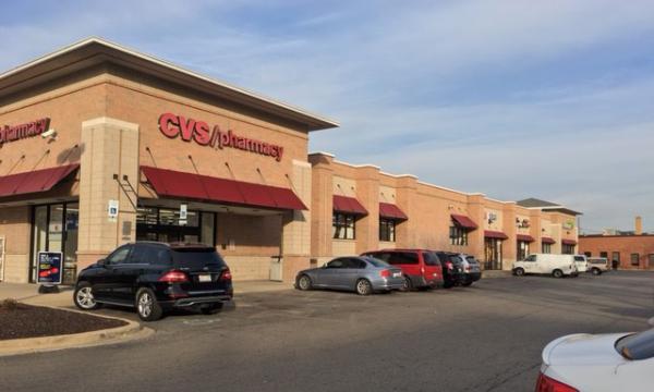 cvs anchored retail center on devon under management
